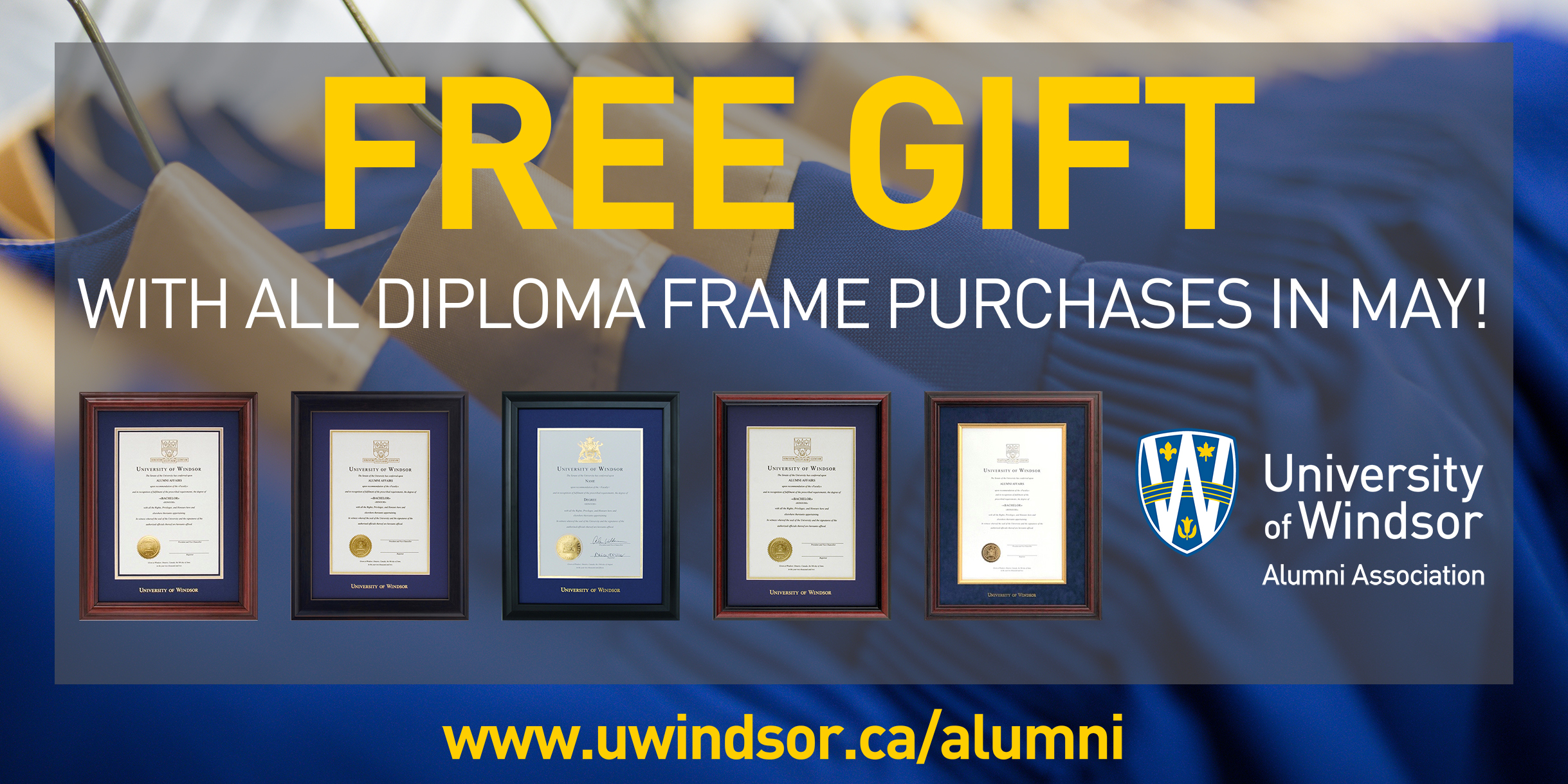 Free Gift with Diploma Frame image