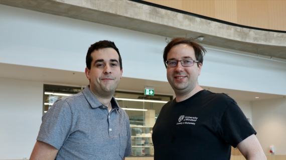 University of Windsor professors Simon Rondeau-Gagné and John Trant received the 2019 Thieme Chemistry Journal Award.