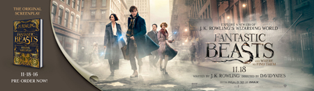 Banner Fantastic Beasts by JK Rowling