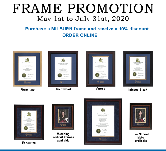 Graduation Frame Sale - 10 percent off until July 31, 2020