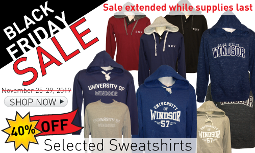 Black Friday Sale on selected sweatshirts date extended while supplies last