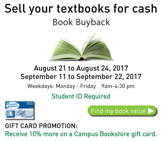 Book Buyback August and September
