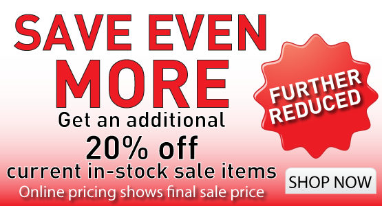 More savings! Further reduced sale item with an additional 20 percent off sale items.