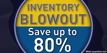 Inventory Blowout Save up to 80 percent off