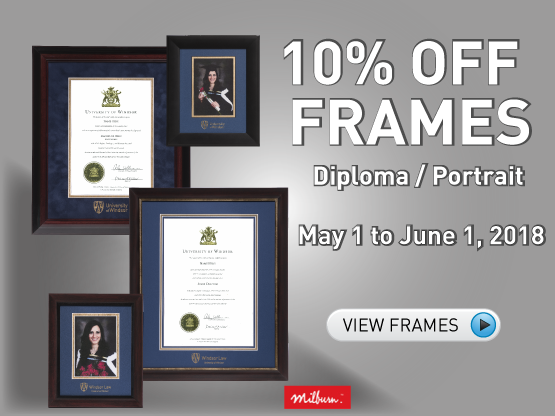 Frames Promotion - 10 percent off diploma and portrait frames - May 1 to June 1, 2018