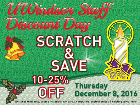 Staff Discount Day December 8, 2016 - Scratch and Save