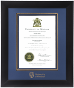 Infused Black UWindsor Diploma Frame
