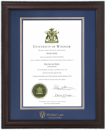 Verona Windsor LAW Diploma Frame