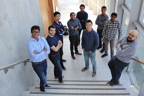 Members of the UWindsor Hyperloop team