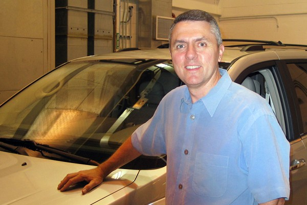 Shawn Yates at the Automotive Research and Development Centre.