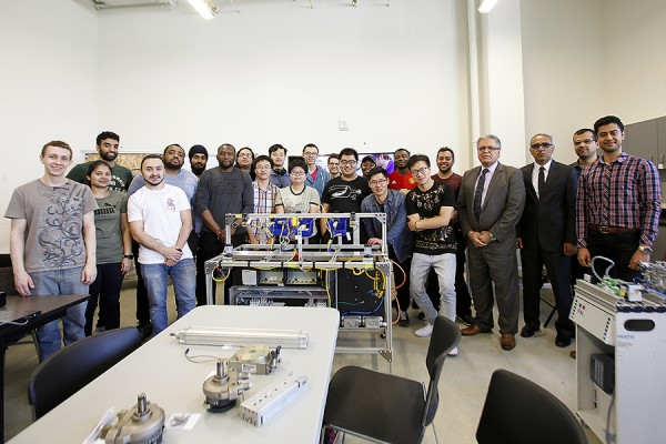 inaugural cohort of students in the weekend Siemens Mechatronic Systems Certification Program