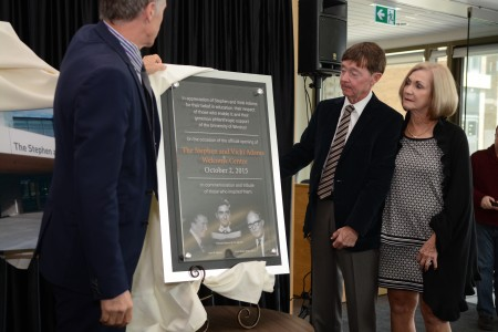Unveiling of the dedication plaque for the Welcome Centre