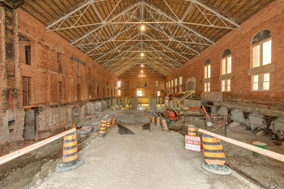 Armouries building construction, interior