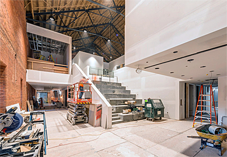 SoCA building, interior under construction