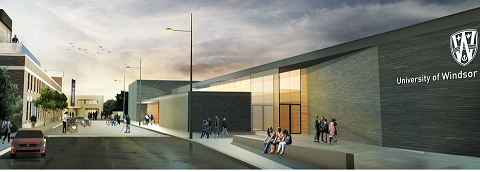 Architectural rendering of new SOCA building