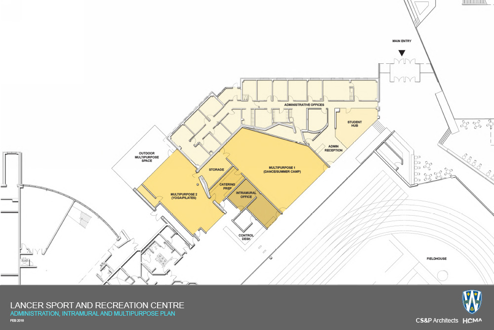 LSRC site plan - admin and intramural areas
