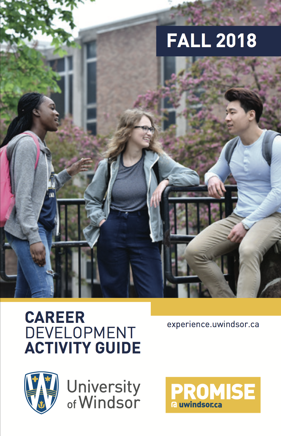 Cover of the 2018 Career Services catalogue