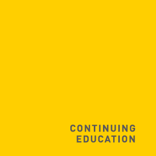 Yellow square labelled Continuing Education