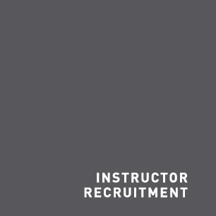 Grey square labelled Instructor Recruitment