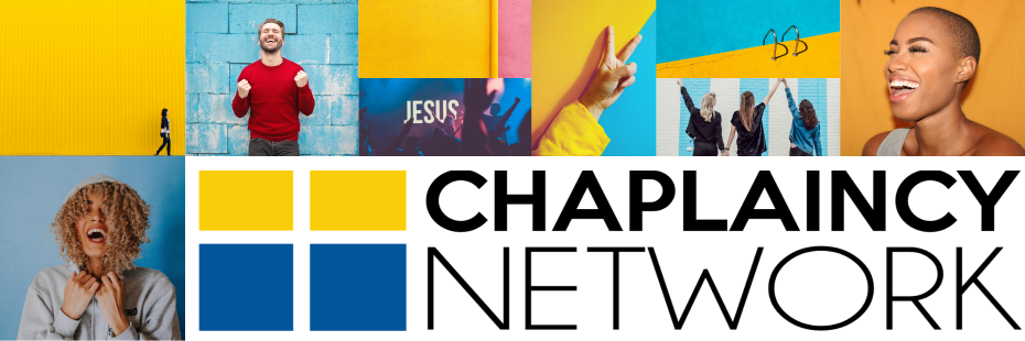 Collage with happy people and Chaplaincy Network Logo