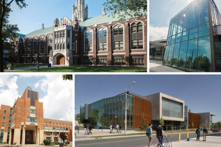 Various building on the UWindsor Campus