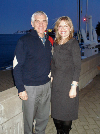 Alan Wright and Iwona Miliszewska enjoy the patio overlooking the water at the Windsor Yacht Club.
