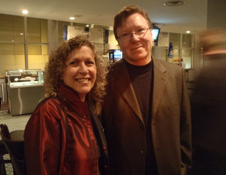 Louise Sauvé with UWindsor music professor Brent Lee at the St. Clair Centre for the Arts