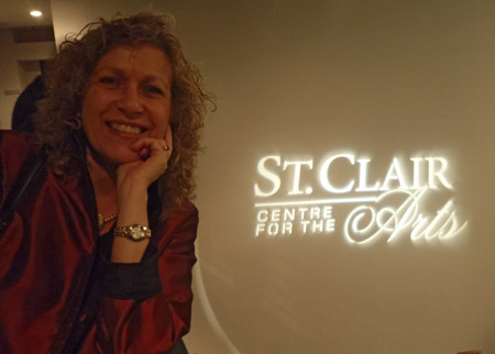 Louise Sauvé at the St. Clair Centre for the Arts