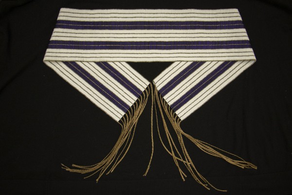 replica of the Two Row wampum belt