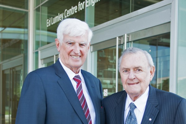 Ed Lumley and Ron Joyce
