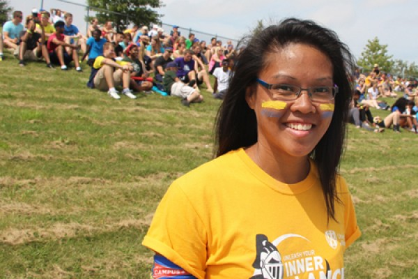 Kristine Silva helped to organize 2014 Welcome Week activities as a volunteer with the Lead@UWindsor program.
