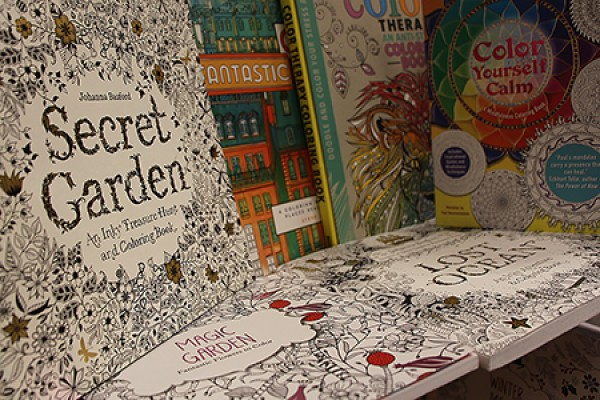 Grown-up colouring books