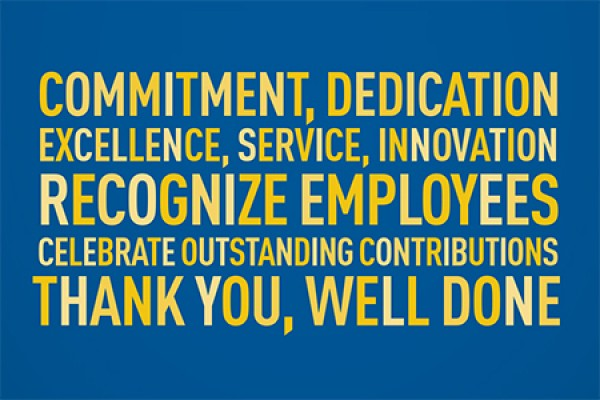 Employee Recognition Awards reception invitation