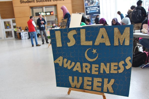 "signboard ""Islam Awareness Week"""