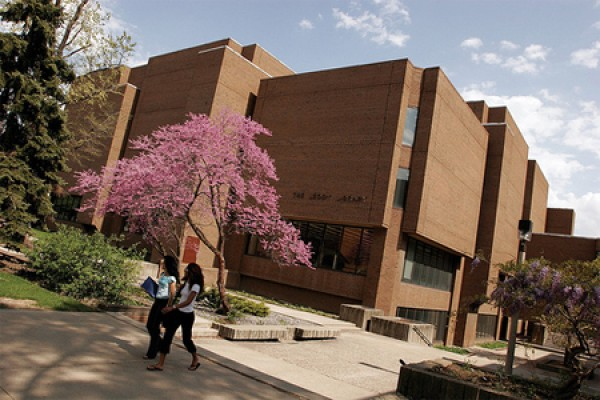 exterior of Leddy Library