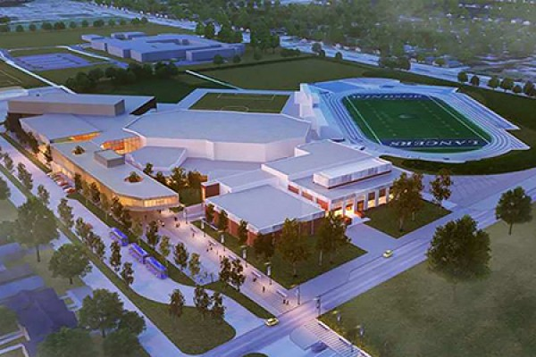 Artist's conception of the Lancer Sports and Recreation Centre.