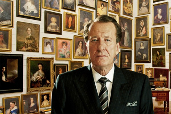 "Geoffrey Rush as art dealer Virgil Oldman in the 2013 film, ""The Best Offer."""
