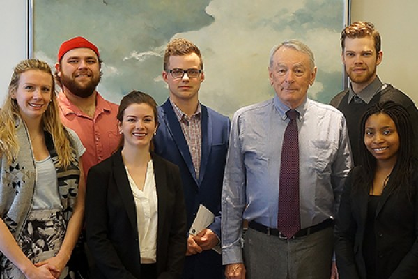 graduate students meet Richard Pound