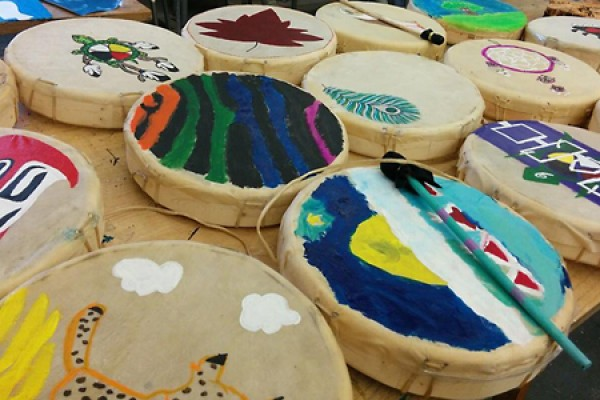 painted drums