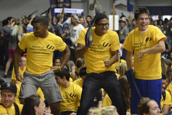 Students dance during the 2012 Welcoming Celebration