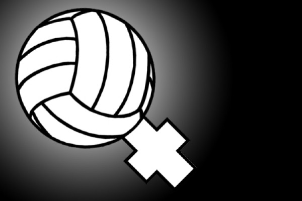 "Volleyball made into ""Venus"" symbol"