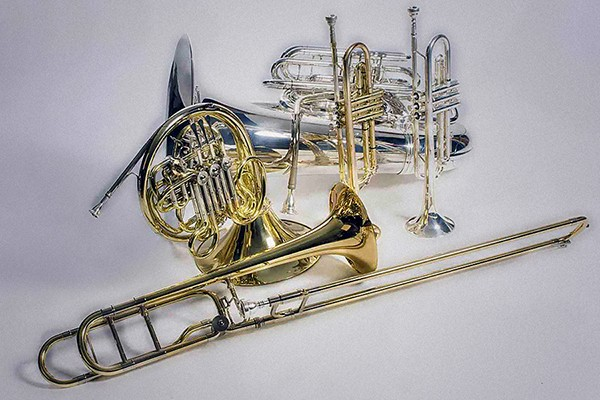 five instruments of the brass quintet