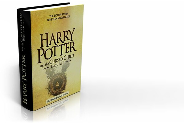 "Book cover: ""Harry Potter and the Cursed Child."""