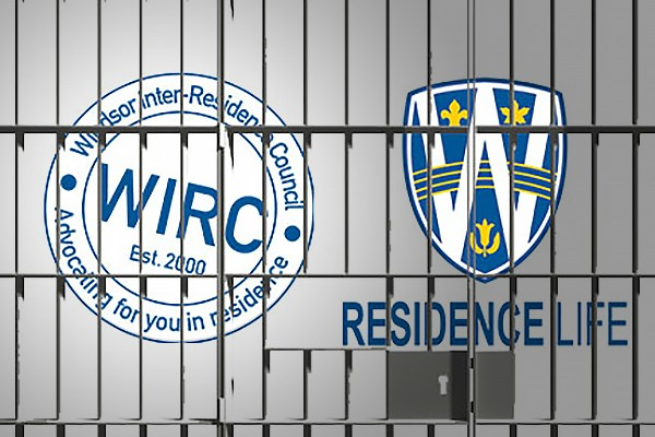 Residence graphics behind bars