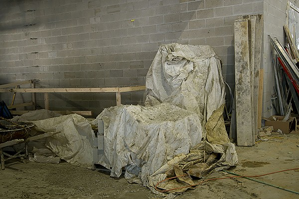 """Room with tarped forms (2013)"""