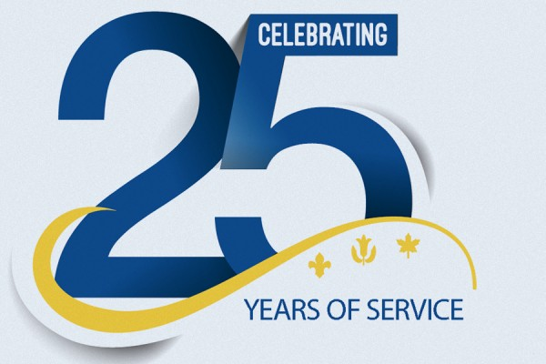 25 Years of Service luncheon logo