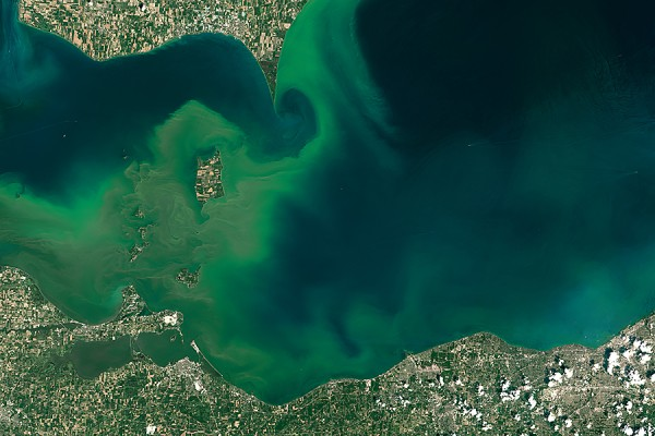 satellite image of Lake Erie