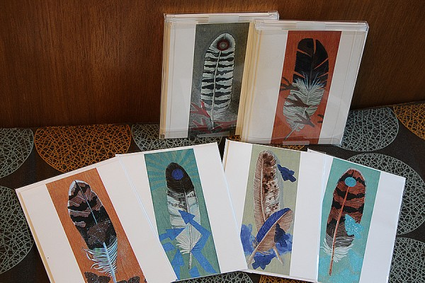 Greeting cards featuring work by artist Teresa Altiman