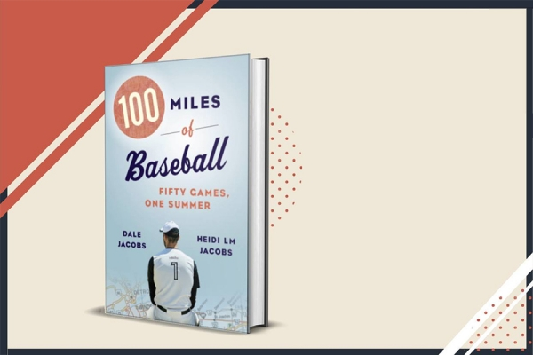 "Book cover: ""100 Miles of Baseball"""