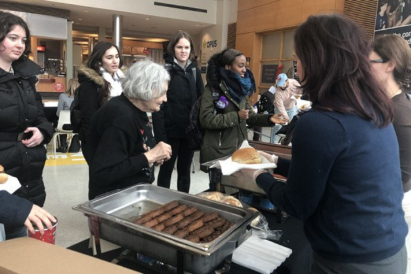 Students, faculty, and staff attended the UWinsite Student Appreciation and Feedback barbecue Tuesday.